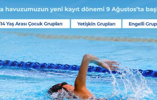 Fulya yüzme havuzu yeni kayıt dönemi başladı