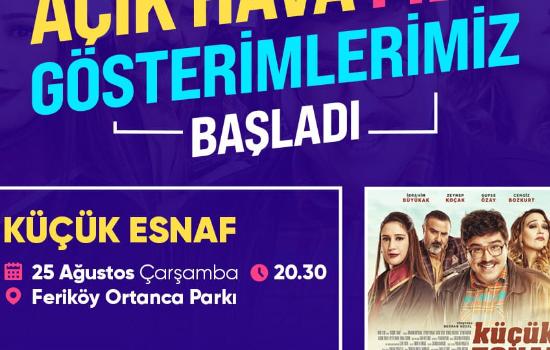 Feriköy'de 'Sinema Açık Havada'