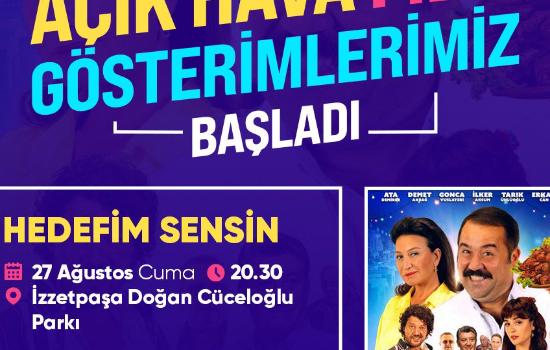 Açık hava sinema keyfi İzzetpaşa'da